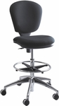 Metro™ 26'' W x 39'' H Extended Height Armless Task Chair - Black [3442BL-FS-SAF]
