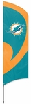 Miami Dolphins Tall Team Flag w/ Pole [TTMD-FS-PAI]