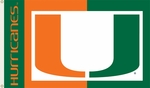 Miami Hurricanes 3' X 5' Flag with Grommets -Logo Design [95031-FS-BSI]
