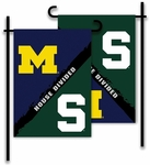 Michigan - Michigan St. 2-Sided Garden Flag - Rivalry House Divided [83293-FS-BSI]