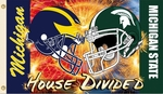 Michigan - Michigan St. 3' X 5' Flag with Grommets - Helmet House Divided [95993-FS-BSI]