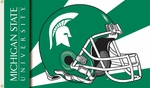 Michigan State Spartans 3' X 5' Flag with Grommets - Helmet Design [95329-FS-BSI]