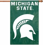 Michigan State Spartans Applique Banner Flag [AFMS-FS-PAI]