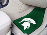 Michigan State University Carpet Car Mat 2 Pc 18'' x 27'' [5271-FS-FAN]