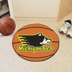 Michigan Tech Basketball Mat 27'' Diameter [2139-FS-FAN]