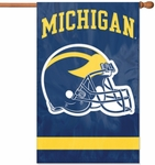 Michigan Wolverines Helmet Applique Banner Flag [AFUM-FS-PAI]