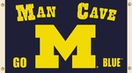 Michigan Wolverines Man Cave 3' X 5' Flag with 4 Grommets [95603-FS-BSI]