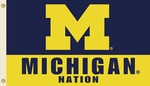 Michigan Wolverines 'Michigan Nation' 3' X 5' Flag with Grommets [95203-FS-BSI]
