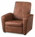 Microfiber Brown Convertible Gaming Chair / Ottoman