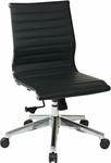 OSP Furniture Mid Back Eco Leather Office Chair - Black [73631-FS-OS]