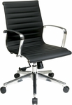 OSP Furniture Mid Back Eco Leather Chair with Locking Tilt - Black [74613LT-FS-OS]