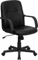 Mid-Back Black Glove Vinyl Executive Office Chair