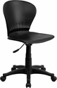 Low Back Black Plastic Swivel Task Chair
