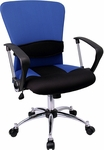 Mid-Back Blue Mesh Swivel Task Chair [LF-W23-BLUE-GG]