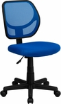 Low Back Blue Mesh Swivel Task Chair [WA-3074-BL-GG]