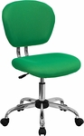 Mid-Back Bright Green Mesh Swivel Task Chair with Chrome Base [H-2376-F-BRGRN-GG]