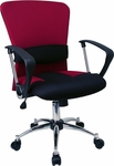 Mid-Back Burgundy Mesh Swivel Task Chair [LF-W23-RED-GG]