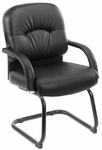 Mid Back Caressoft™ Executive Guest Chair - Black [B7409-FS-BOSS]
