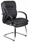 Mid Back CaressoftPlus&#8482 Guest Chair with Padded Arms - Black [B9229-FS-BOSS]