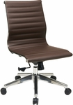OSP Furniture Mid Back Eco Leather Office Chair - Chocolate [73638-FS-OS]