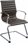 OSP Furniture Mid Back Eco Leather Visitor Chair - Chocolate [74658-FS-OS]