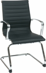 OSP Furniture Mid Back Eco Leather Visitor Chair - Black [74653-FS-OS]