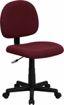 Low Back Ergonomic Burgundy Fabric Swivel Task Chair [BT-660-BY-GG]