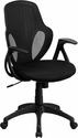 Mid-Back Executive Black Mesh Chair with Nylon Base