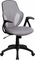 Mid-Back Executive Gray Mesh Chair with Nylon Base