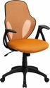 Mid-Back Executive Orange Mesh Chair with Nylon Base