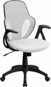 Mid-Back Executive White Mesh Chair with Nylon Base