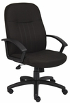 Mid Back Fabric Managers Chair with Arms - Black [B8306-BK-FS-BOSS]
