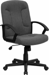Mid-Back Gray Fabric Executive Swivel Office Chair with Nylon Arms [GO-ST-6-GY-GG]