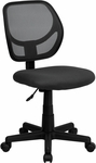 Low Back Gray Mesh Swivel Task Chair [WA-3074-GY-GG]