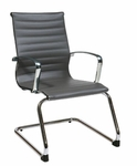 OSP Furniture Mid Back Eco Leather Visitor Chair - Grey [74652-FS-OS]