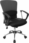 Mid-Back Grey Mesh Swivel Task Chair [LF-W23-GREY-GG]