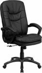 High Back Massaging Black Leather Executive Swivel Office Chair [BT-9585P-GG]