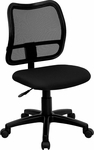 Mid-Back Mesh Swivel Task Chair with Black Fabric Padded Seat [WL-A277-BK-GG]