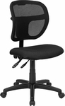 Mid-Back Mesh Swivel Task Chair with Black Fabric Padded Seat [WL-A7671SYG-BK-GG]