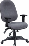 Mid-Back Multi-Functional Gray Fabric Executive Swivel Office Chair [BT-662-GY-GG]