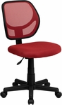Low Back Red Mesh Swivel Task Chair [WA-3074-RD-GG]