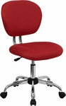 Mid-Back Red Mesh Swivel Task Chair with Chrome Base [H-2376-F-RED-GG]
