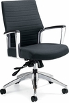 Accord QuickShip Medium Back Vinyl Tilter Management Chair - Softhide [2671-4-FS-GLO]