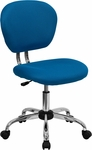Mid-Back Turquoise Mesh Swivel Task Chair with Chrome Base [H-2376-F-TUR-GG]