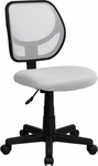 Low Back White Mesh Swivel Task Chair [WA-3074-WHT-GG]