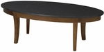 Midnight 48'' W x 24'' D x 16'' H Coffee Table - Black Granite Top with Bourbon Cherry Base [M103CSCR-FS-MAY]
