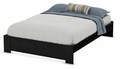 Mikka Collection Queen Platform Bed Black Oak