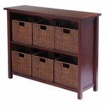 Milan 2-Tier Wide Shelf with 6 Baskets [94510-FS-WWT]