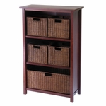 Milan 3-Tier Shelf with 5 Baskets [94313-FS-WWT]