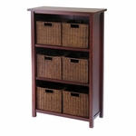 Milan 3-Tier Shelf with 6 Baskets [94310-FS-WWT]